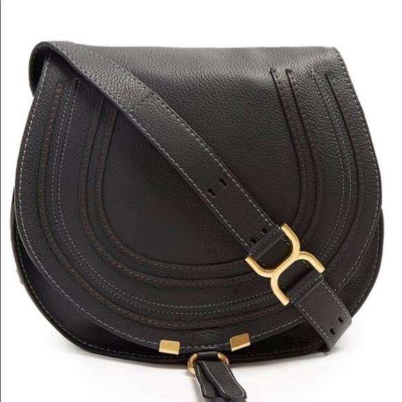 ef9a57c3704 Chloe Bags | Marcie Medium Black Crossbody Bag Sold | Poshmark